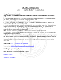 Unit 3 - Earth History - Troup County School System