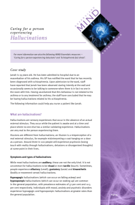 Hallucinations - Queensland Health