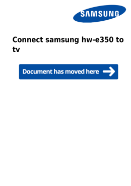 Connect samsung hw