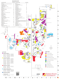 Ferris State Campus Map Ferris Campus Map | woestenhoeve
