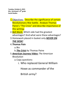 i. Who replaced General William Howe as commander of the British
