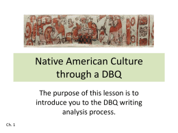 Native American Culture through a DBQ