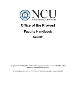 Office of the Provost - Northcentral University
