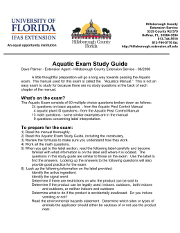 Aquatic Exam Study Guide - IFAS/Polk County Extension