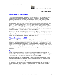 Success Story About Hewitt Associates About