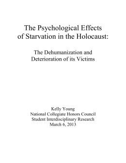 The Psychological Effects of Starvation in the Holocaust