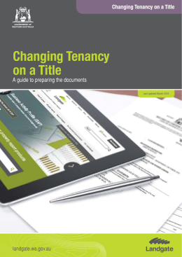 Changing Tenancy on a Title