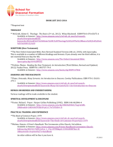 BOOK LIST 2013-2014 **Required text THEOLOGY ** McGrath