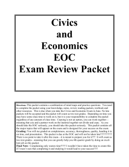 Civics and economics homework help