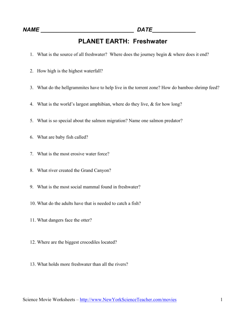 PLANET EARTH: Freshwater