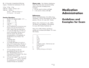 Sample Medication Administration test