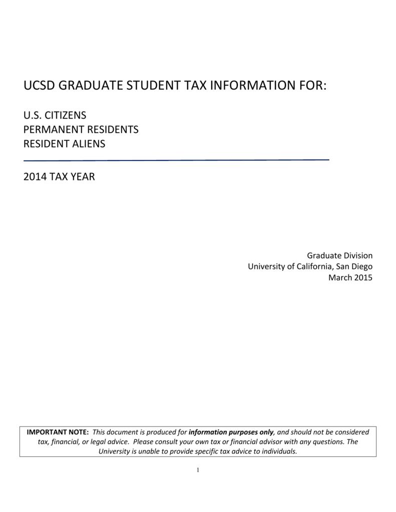 w2 form ucsd  General Tax Information