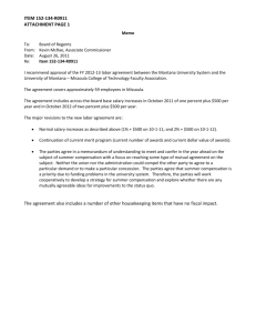 ITEM 152-134-R0911 ATTACHMENT PAGE 1 The agreement also