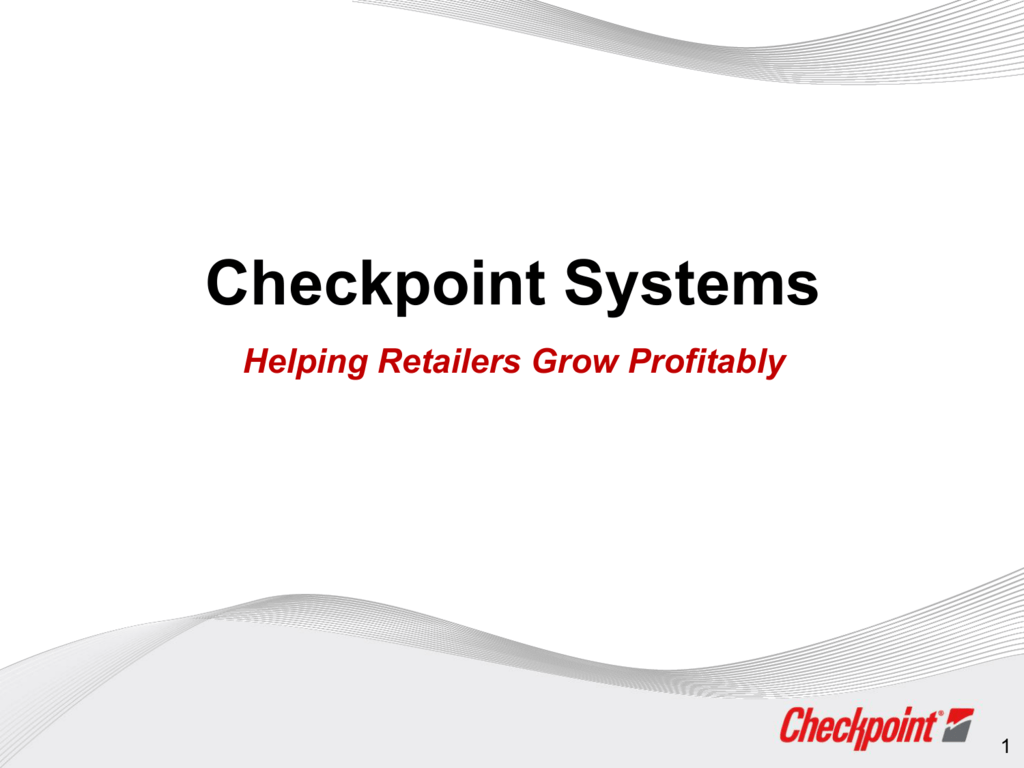 Checkpoint Systems Corporate Presentation