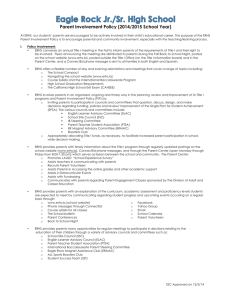 Parent Involvement Policy (2014/2015 School Year)