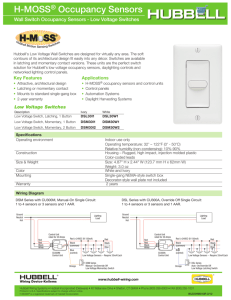 H-MOSS® Occupancy Sensors H-MoSS - Carlton on