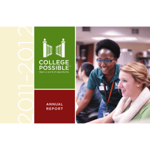 annual report - College Possible
