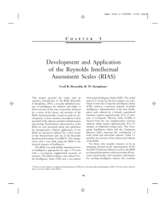 Development and Application of the Reynolds Intellectual