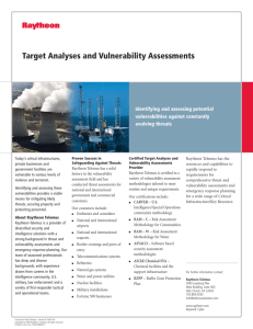 Target Analyses and Vulnerability Assessments