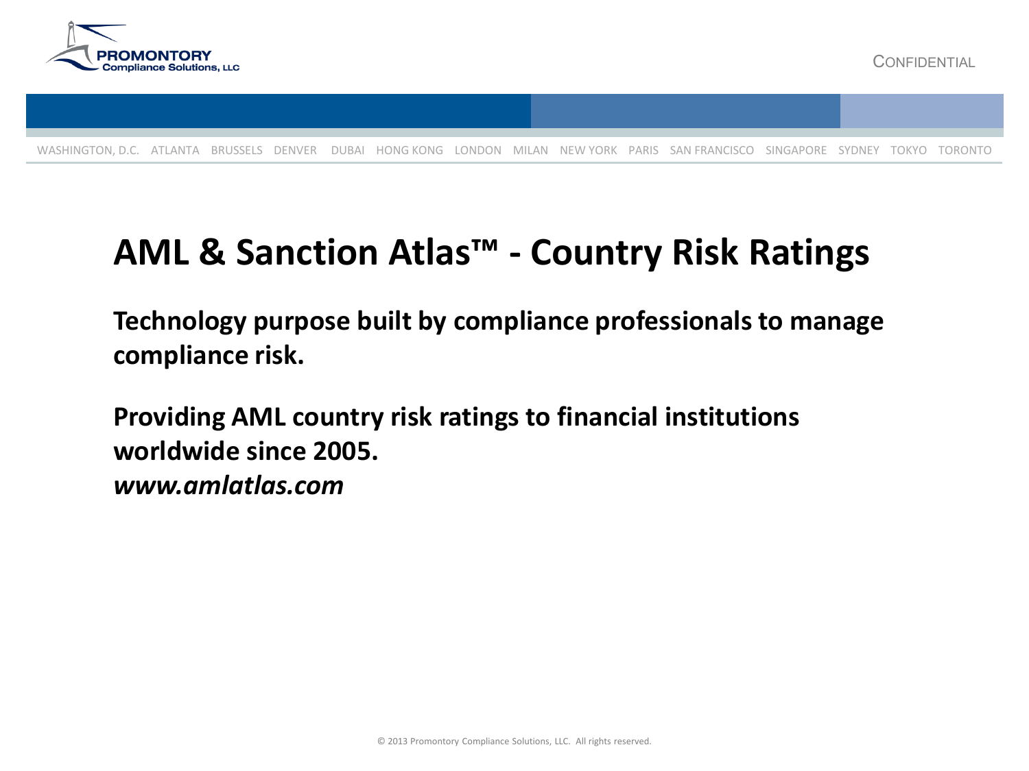 AML & Sanction Atlas™ - Country Risk Ratings