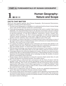 Human Geography: Nature and Scope