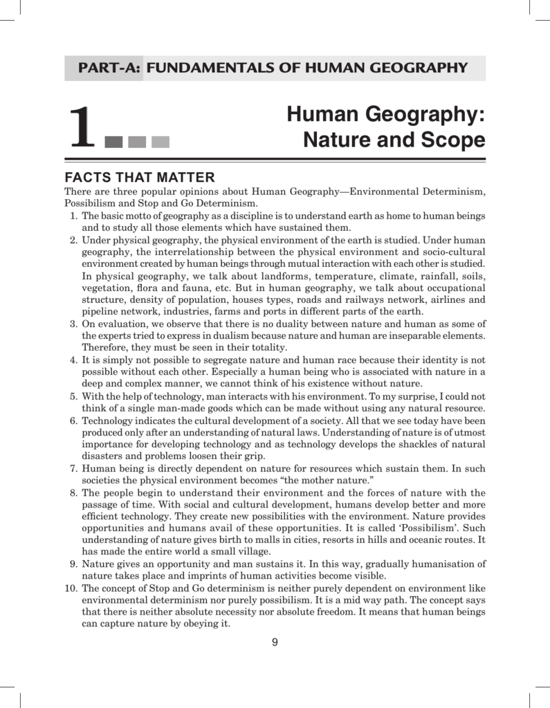 neo determinism in geography
