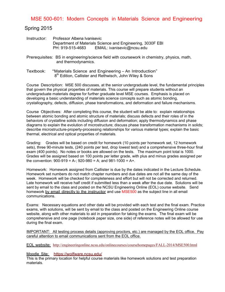 Syllabus - Engineering Online