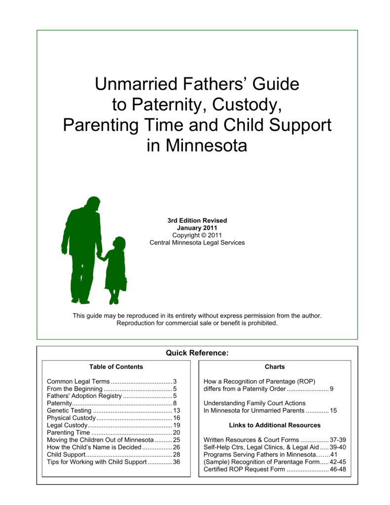 Unmarried Fathers Guide To Paternity Custody