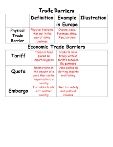 Trade Barriers Definition Example in Europe Illustration Economic