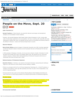 People on the Move, Sept. 20 - News