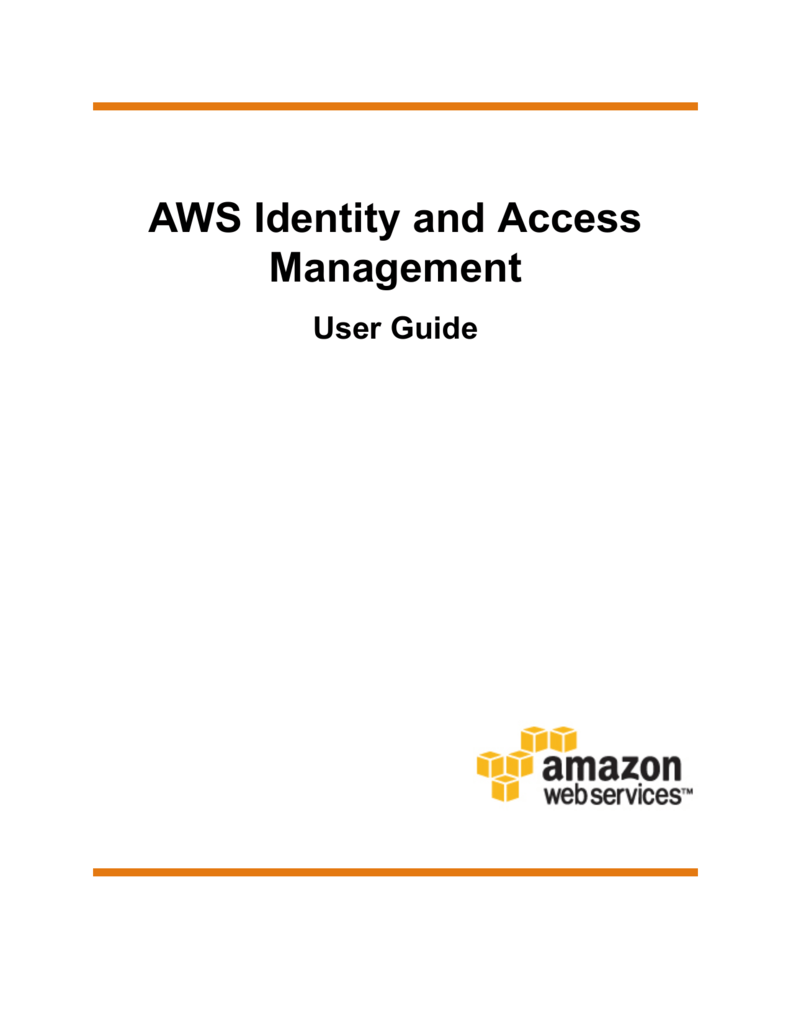 AWS Identity and Access Management User Guide