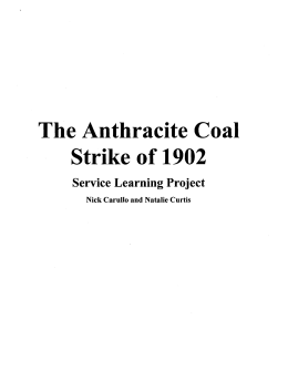 The Anthracite Coal Strike of 1902