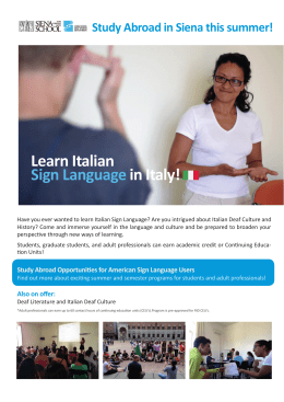 Learn Italian Sign Language in Italy!