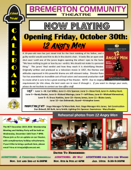 12 Angry Men - Bremerton Community Theatre