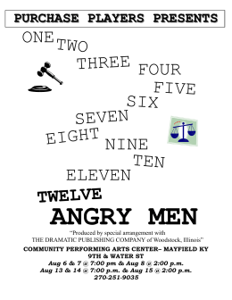 Twelve Angry Men - Purchase Players & the CPAC