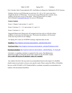 Syllabus - University of Tennessee: Department of Mathematics
