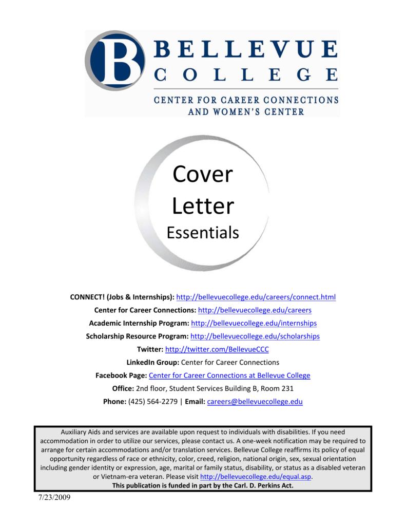 Cover Letter Bellevue College