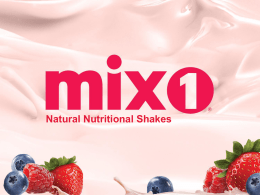 Natural Nutritional Shakes