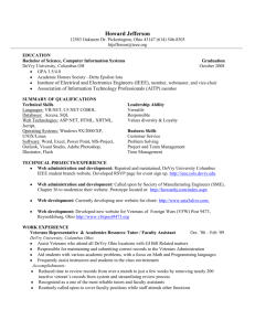 My Resume - VFW Post 9473