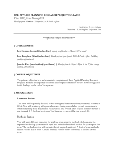 205B_APPLIED PLANNING RESEARCH PROJECT SYLLABUS