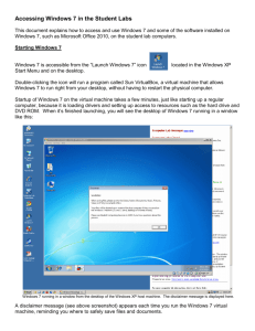 Accessing Windows 7 in the Student Labs