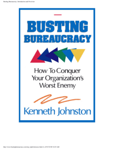 Busting Bureaucracy: Introduction and Overview