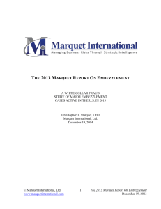 the 2013 marquet report on embezzlement