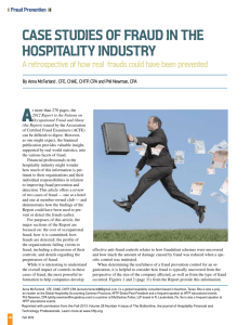 Case studies of fraud in the hospitality industry
