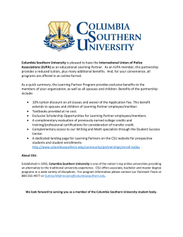 Columbia Southern University is pleased to have the International