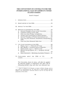 the convention on contracts for the international sale of goods in