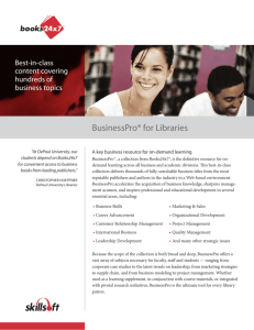 BusinessPro® for Libraries