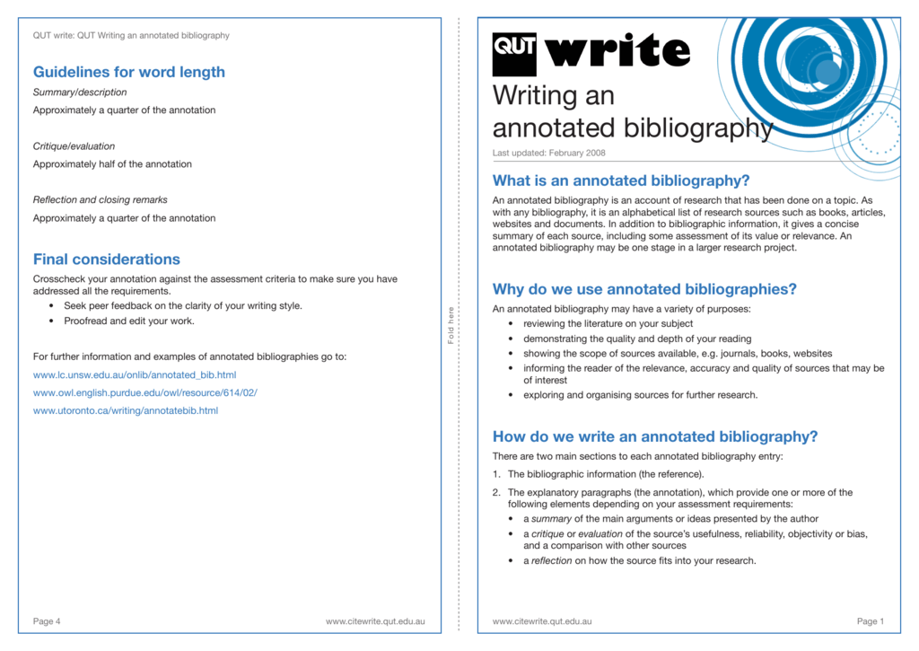 lc unsw annotated bibliography