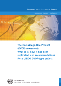 Research report on the One Village One Product (OVOP) movement: