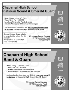 Panda Express Fundraiser - Platinum Sound and Emerald Guard